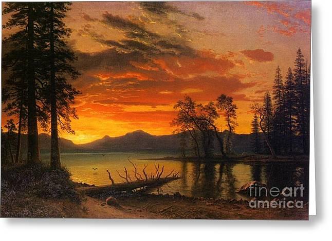 Landscape Greeting Cards - Sunset Greeting Card by Vishal Lakhani