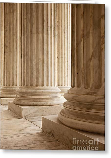 Resolve Greeting Cards - Supreme Court Columns Greeting Card by Brian Jannsen