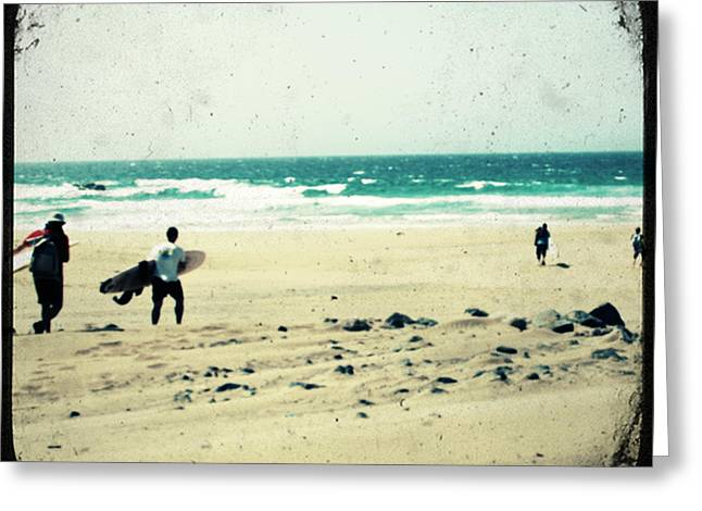 Beach Photography Pyrography Greeting Cards - Surf Greeting Card by Antonietta Pics