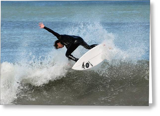 Surfing 395 Greeting Card by Joyce StJames