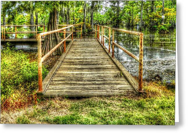 Swamp Dock Greeting Card by Ester  Rogers