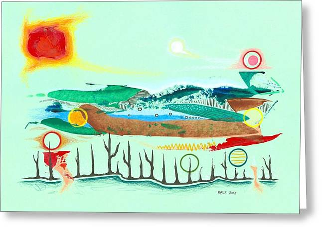 Swampworld Revisited Greeting Card by Ralf Schulze