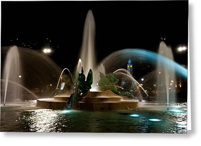 Louis Dallara Greeting Cards - Swann Memorial Fountain Greeting Card by Louis Dallara