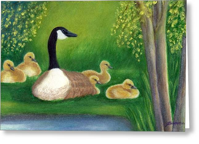 Mother Goose Paintings Greeting Cards - Sweet Repose  Greeting Card by Jeanne Kay Juhos