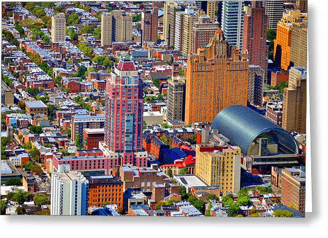 Pearson Aerial Greeting Cards - Symphony House Condo 440 South Broad Street Philadelphia PA 19146 4901 Greeting Card by Duncan Pearson
