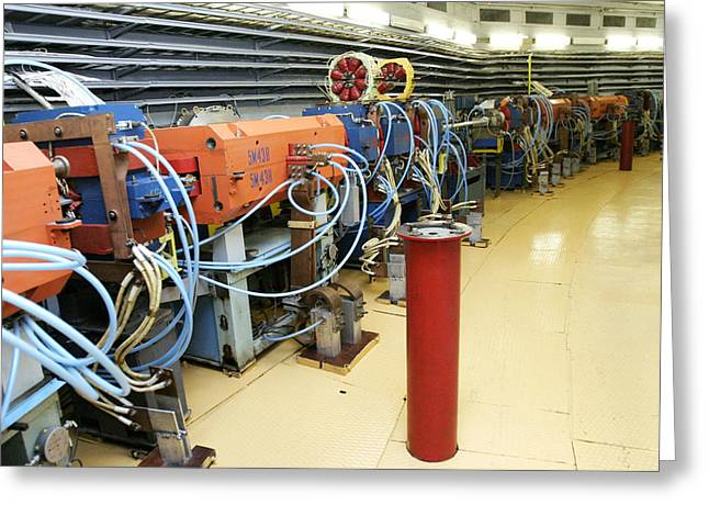 Particle Accelerator Greeting Cards - Synchrotron Particle Accelerator Greeting Card by Ria Novosti