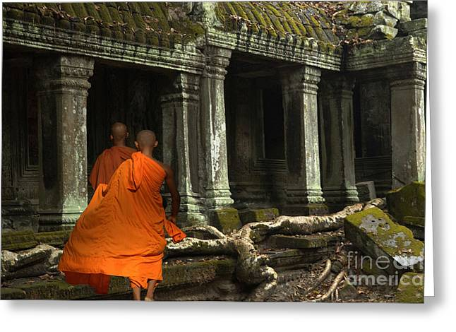Ta Prohm Greeting Cards - Ta Prohm Cambodia Greeting Card by Bob Christopher