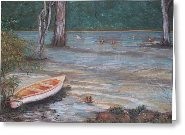 White River Pastels Greeting Cards - Take-a-Break Greeting Card by Roz Jenkins