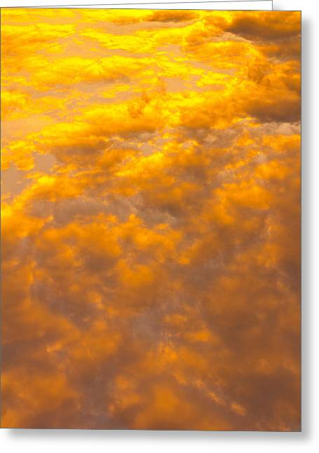 Summer Storm Greeting Cards - Tangerine Sky Greeting Card by David Pyatt