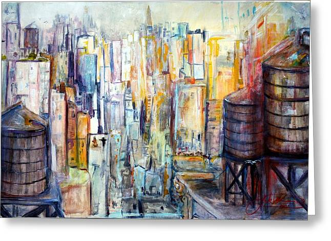 Union Square Paintings Greeting Cards - Tanks For The Memories Greeting Card by Jack Diamond