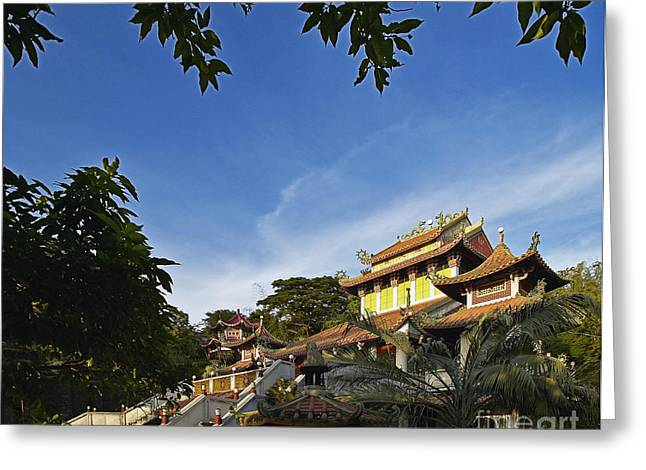 Reverence Greeting Cards - Tao Temple Greeting Card by Skip Nall
