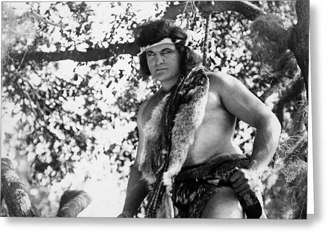 Silent Film Greeting Cards - Tarzan Of The Apes, 1918 Greeting Card by Granger
