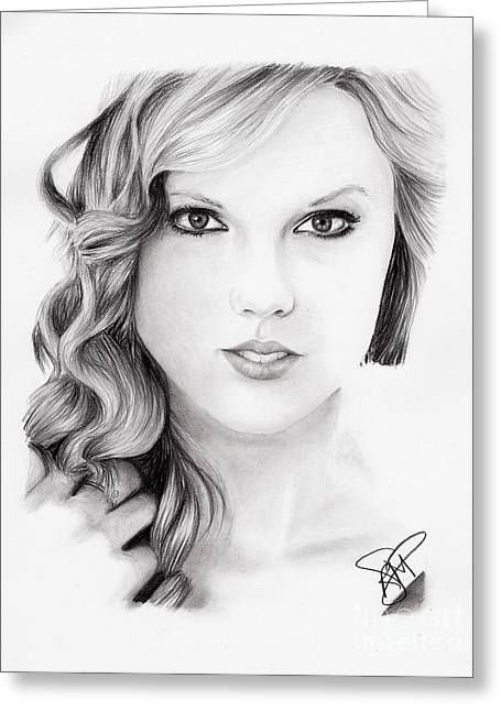 Taylor Swift Greeting Cards - Taylor Swift 2 Greeting Card by Rosalinda Markle