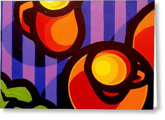 Expressionism Greeting Cards - Tea And Apples Greeting Card by John  Nolan