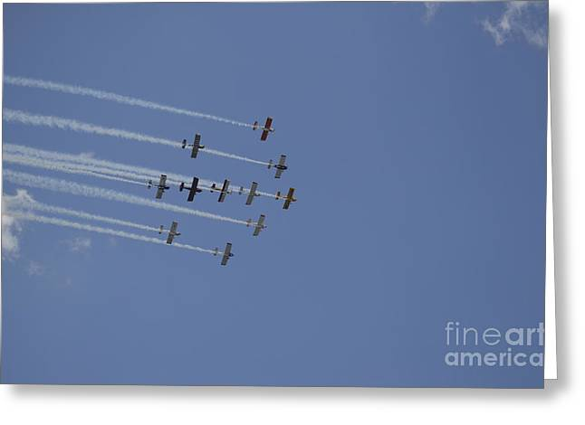 Cooperation Greeting Cards - Team Rv Aerobatics Team Greeting Card by Stocktrek Images