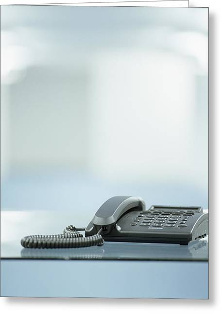Technological Communication Greeting Cards - Telephone Greeting Card by Adam Gault