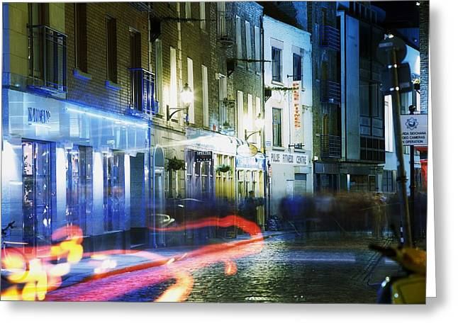 Enterprise Greeting Cards - Temple Bar, Dublin, Co Dublin, Ireland Greeting Card by The Irish Image Collection
