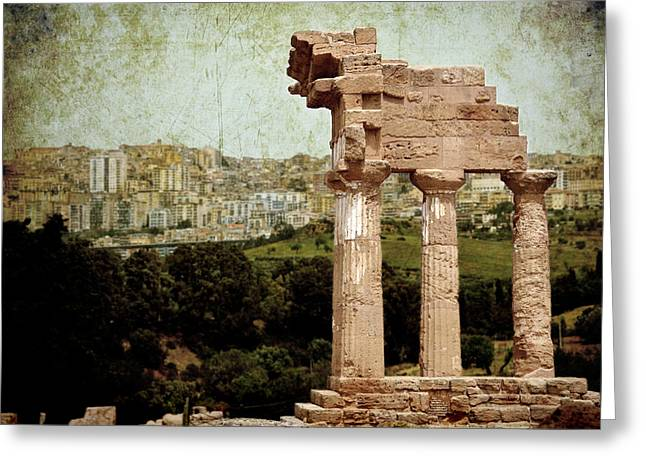 Pollux Greeting Cards - Temple of Castor and Pollux Greeting Card by RicardMN Photography