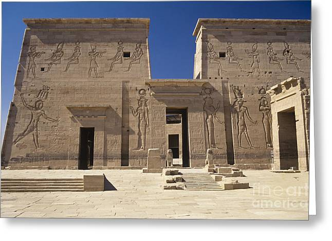 Phila Greeting Cards - Temple of Isis Greeting Card by Adam Crowley