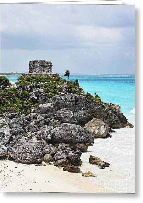 Beach Stones. Colorful Rocks Greeting Cards - Temple of the Wind God Greeting Card by George Oze