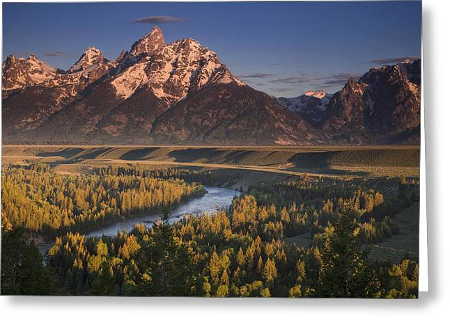 Grand Teton Photographs Greeting Cards - Teton Morning Greeting Card by Andrew Soundarajan