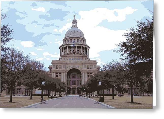 Capitol Digital Greeting Cards - Texas Capitol Color 16 Greeting Card by Scott Kelley