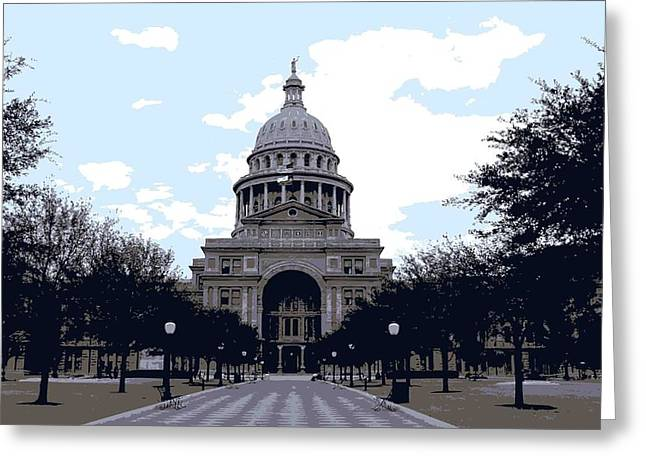 Capitol Digital Greeting Cards - Texas Capitol Color 6 Greeting Card by Scott Kelley
