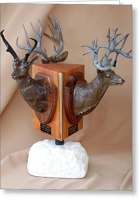 Hunting Sculptures Greeting Cards - Texas Trophies Greeting Card by J P Childress