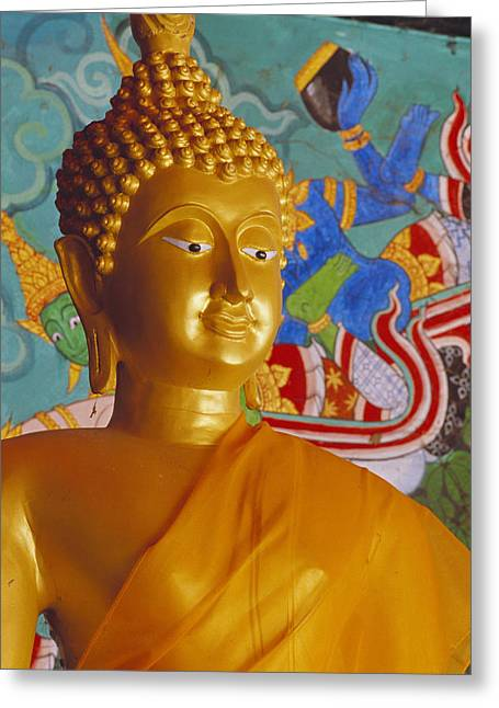 Statue Portrait Photographs Greeting Cards - Thailand, Lop Buri Greeting Card by Bill Brennan - Printscapes