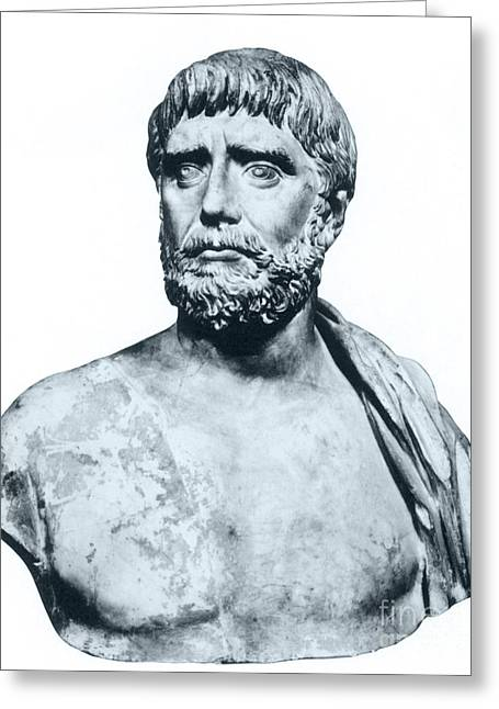 Deductive Greeting Cards - Thales, Ancient Greek Philosopher Greeting Card by Photo Researchers