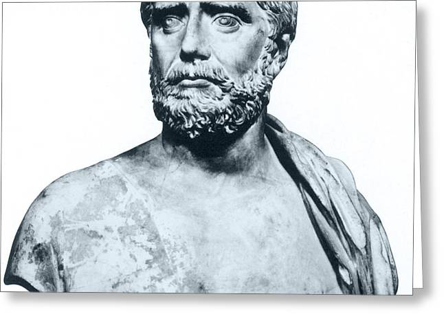 Thales, Ancient Greek Philosopher Greeting Card by Photo Researchers