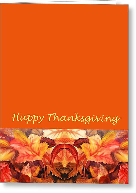 Thanksgiving Art Greeting Cards - Thanksgiving Card Greeting Card by Irina Sztukowski