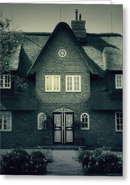 Scary Houses Greeting Cards - Thatch Greeting Card by Joana Kruse