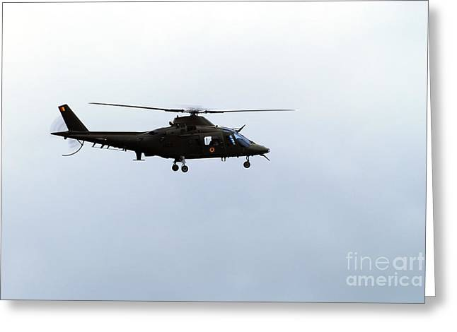 The Agusta A-109 Helicopter Greeting Card by Luc De Jaeger
