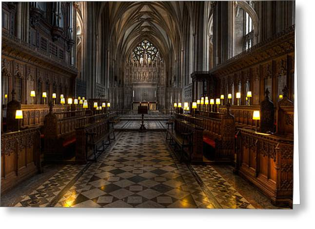 Historic Architecture Digital Art Greeting Cards - The Altar Greeting Card by Adrian Evans