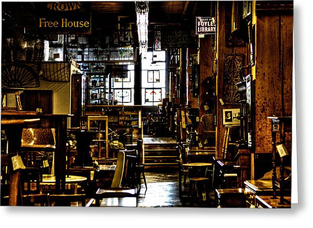 Pioneer Square Seattle Greeting Cards - The Antique Store Greeting Card by David Patterson