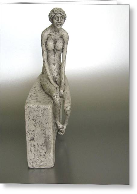 Hope Sculptures Greeting Cards - The Arrival Greeting Card by Erika Takacs