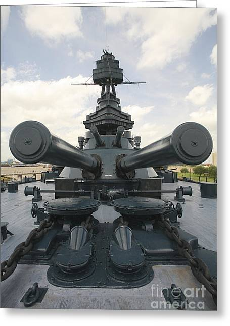 Dreadnought Greeting Cards - The Battleship Uss Texas Greeting Card by Michael Wood