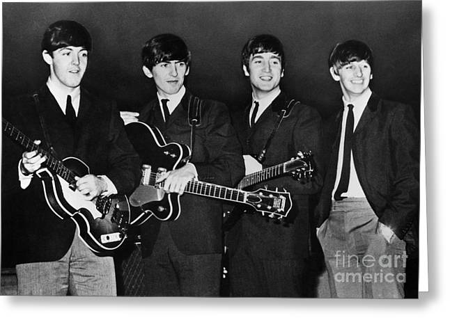 John Lennon Photographs Greeting Cards - The Beatles Greeting Card by Granger