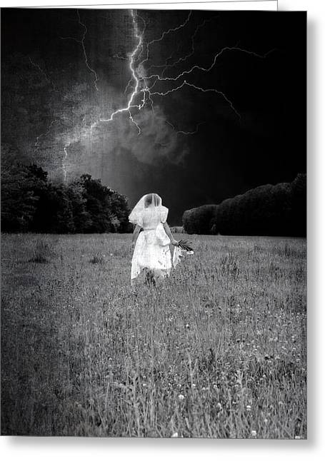 Eerie Greeting Cards - The Bride Greeting Card by Joana Kruse