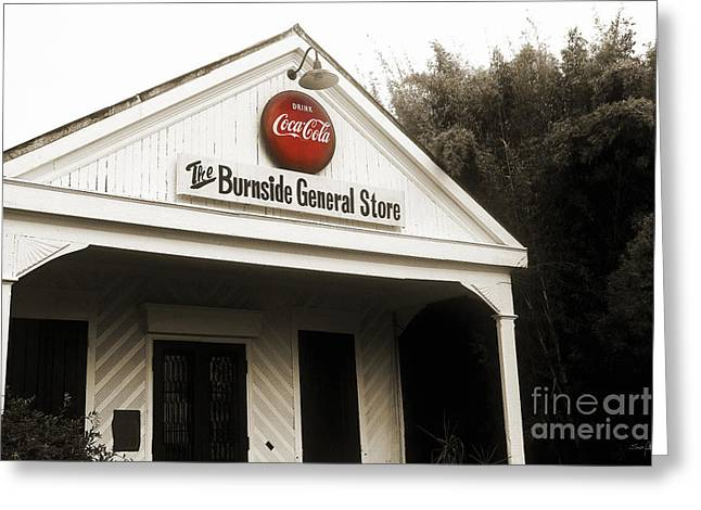 Best Sellers -  - Historic Country Store Greeting Cards - The Burnside General Store Greeting Card by Scott Pellegrin