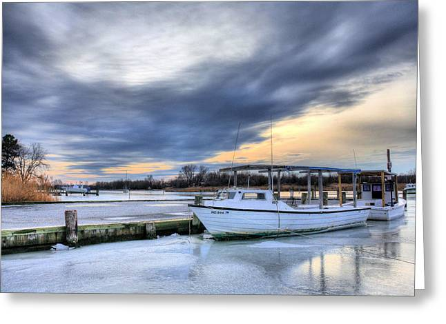 Delmarva Greeting Cards - The Calm Before Greeting Card by JC Findley
