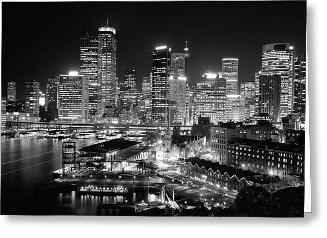 Joannes Greeting Cards - The City of Sydney Greeting Card by Thomas Joannes