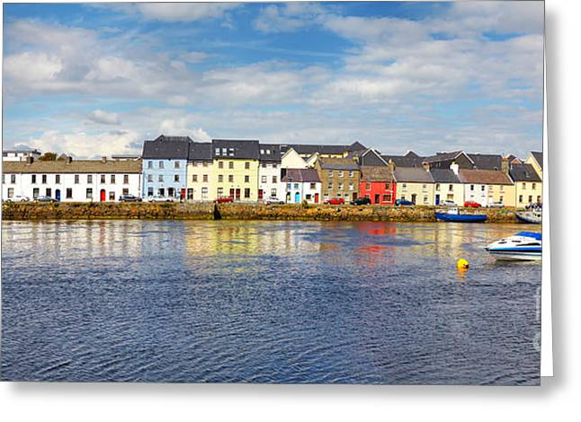 Galway Bay Greeting Cards - The Claddagh Galway Greeting Card by Gabriela Insuratelu