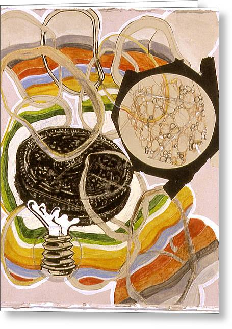 Oreo Mixed Media Greeting Cards - The Creation According to Nabisco Greeting Card by Karl Frey