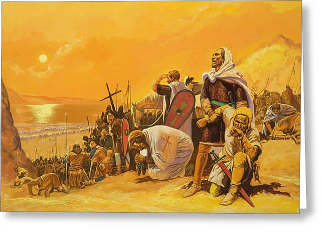 Harsh Conditions Greeting Cards - The Crusades Greeting Card by Gerry Embleton