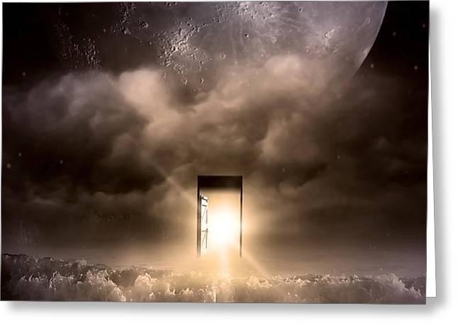 The Door Greeting Card by Svetlana Sewell