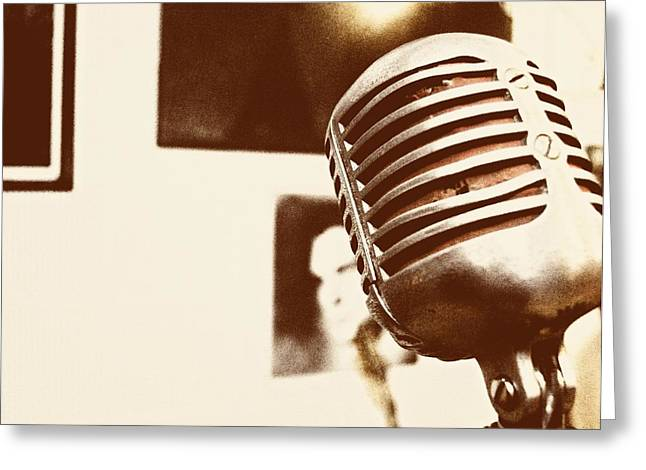 THE ELVIS MIC Greeting Card by JAMART Photography