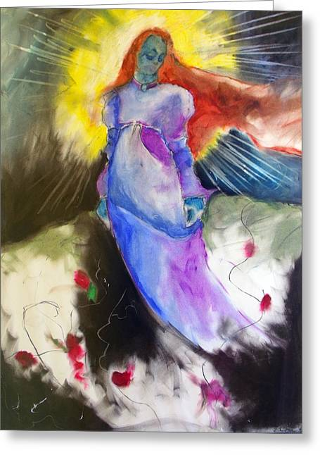 Goddess Pastels Greeting Cards - The Empress Greeting Card by Erika Brown