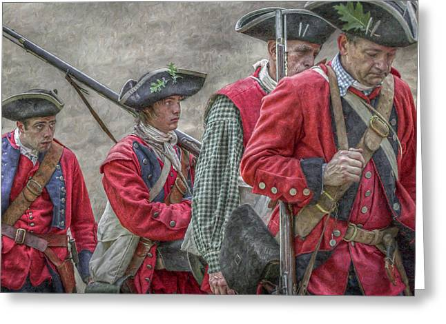 Loyalist Greeting Cards - The Faces of War Greeting Card by Randy Steele